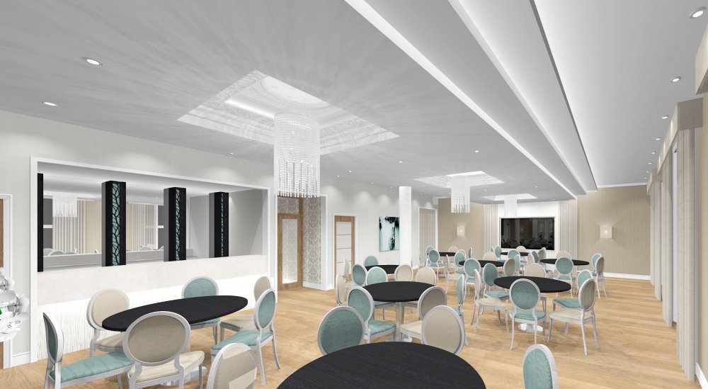 3d visual of The Terrace Suite Function Room